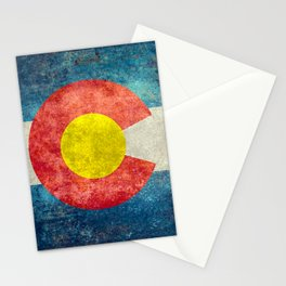 Grungy Colorado Flag Stationery Cards