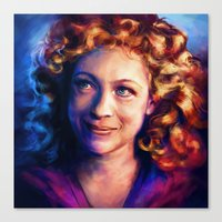river song Canvas Prints featuring River Song by Alice X. Zhang