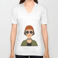 leon V-neck T-shirts featuring MATHILDA - LEON by Capitoni