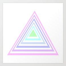pastel rainbow triangles Art Print