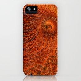 Orange Lily Fractal iPhone Case