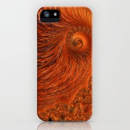 Orange Lily Fractal iPhone Case
