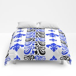 Fluer de Lis Custom Blue Comforters