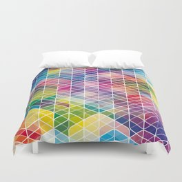 Cuben Curved #6 Geometric Art Print. Duvet Cover