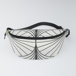 Diamond Series Inter Wave Charcoal on White Fanny Pack