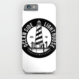 Ocean Side Light House iPhone Case
