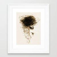 transparent Framed Art Prints featuring Transparent by Sofia Karlström