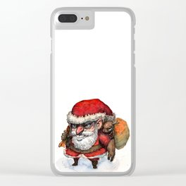 Santa and Rudolph Clear iPhone Case