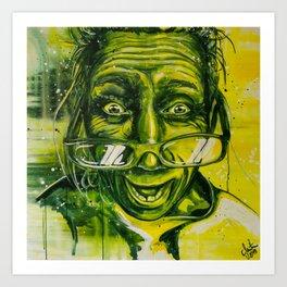 green madness, #carographic by Carolyn Mielke Art Print