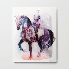 Horse (Dressage rider) Metal Print