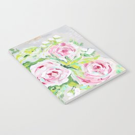 Pink rose floral bouquet Notebook