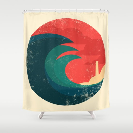 The wild ocean Shower Curtain