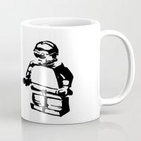 c3po Mugs featuring C3PO by TASHIMARO