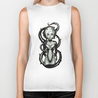 carnage Biker Tanks featuring The Flower of Carnage by Giulio Rossi