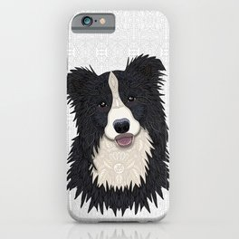 Happy Border Collie iPhone Case