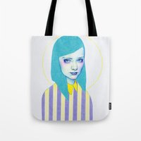 pastel Tote Bags featuring Pastel by Natalie Foss