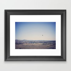 in the distance::denver Framed Art Print