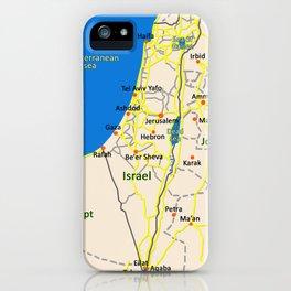 Israel Map design iPhone Case