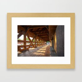 Sunset Bridge Framed Art Print