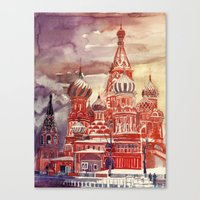 moscow Canvas Prints featuring Moscow by takmaj