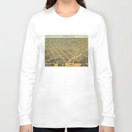 Vintage Pictorial Map of Lexington Kentucky (1871) Long Sleeve T-shirt