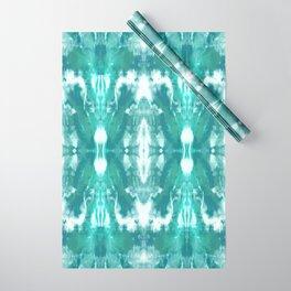 Aqua Blue Lagoon Wrapping Paper