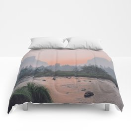 Yosemite Valley Sunrise Pretty Pink Comforters