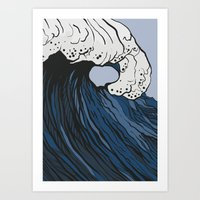 anxiety Art Prints featuring Anxiety by Ksenia Palfy
