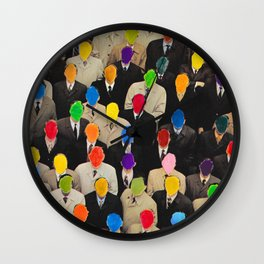Rainbow people Wall Clock