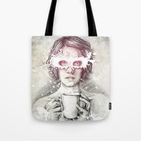 milk Tote Bags featuring Milk by Anna Sun