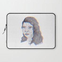 "SERIOUS - pencil illustration ""screen print"" Laptop Sleeve"