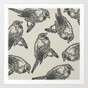 Bird Print by marissayunque