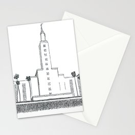Los Angeles LDS Temple Ink Drawing Stationery Cards