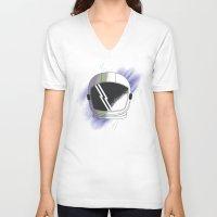 cosmos V-neck T-shirts featuring COSMOS by Fernanda Schallen
