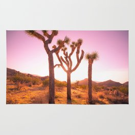 Three Sisters at Sunset- Joshua Tree Edition Rug