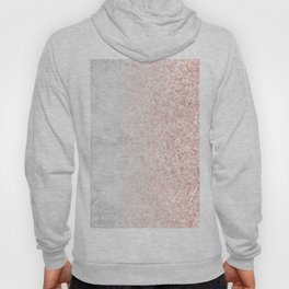 Real Marble and Rose Gold Mermaid Sparkles III Hoody