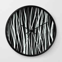 White Ink Wall Clock