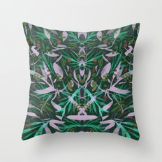Neon Jungle Party Throw Pillow