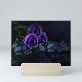 Three Purple Roses Mini Art Print