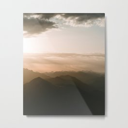 Mountain Sunrise in the german Alps - Landscape Photography Metal Print