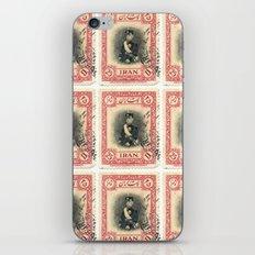 Old Iranian Stamp iPhone & iPod Skin