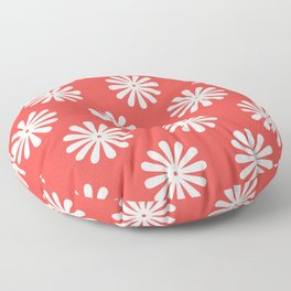 Daisy Print (cream/poppy) Floor Pillow