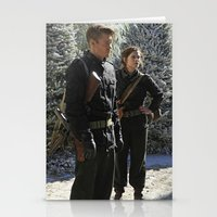 peggy carter Stationery Cards featuring Jack Thompson & Peggy Carter. by agentcarter23