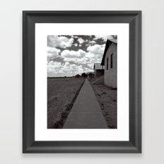 walking distance Framed Art Print