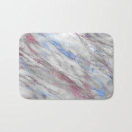 Elegant modern faux rose gold blue abstract marble Bath Mat
