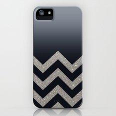 BLACK FADING SILVER CHEVRON iPhone (5, 5s) Slim Case