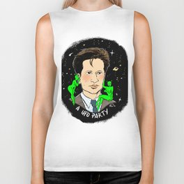 Fox Mulder Pin-up Biker Tank