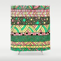 nyc Shower Curtains featuring NYC by Mariana Beldi