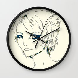 retro space chik Wall Clock