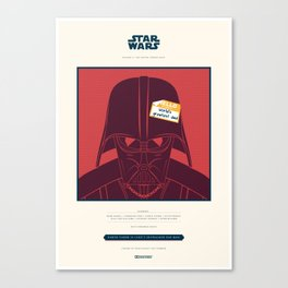 World's greatest dad Spoiler Poster Canvas Print